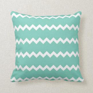Cockatoo Turquoise Chevron Pillow