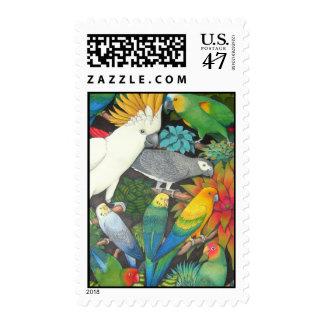 Cockatoo y su franqueo de los amigos del loro sellos