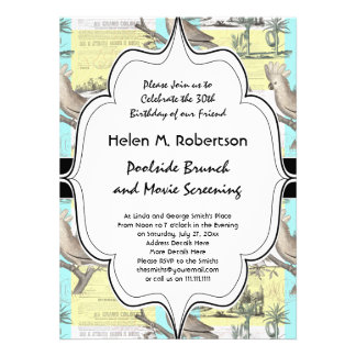 Cockatoos Colonial Dream Personalized Announcements