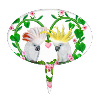 Cockatoos of the Heart Cake Topper