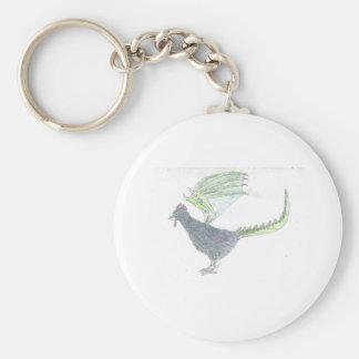 Cockatrice or Basalisk 2 Basic Round Button Keychain