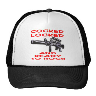 Cocked Locked And ready To Rock Trucker Hat