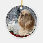 Cocker Christmas Ornament