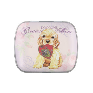 Cocker Heart Mom Jelly Belly Candy Tins