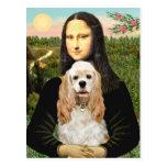 Cocker (piel de ante) - Mona Lisa Postales