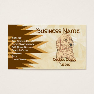 Cocker ~ Puppy Kisses Business Card