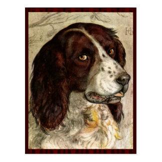 Cocker Spanial Dog Print Postcard
