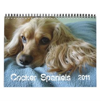 Cocker spaniel 2012 calendarios