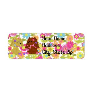 Cocker Spaniel Address Label