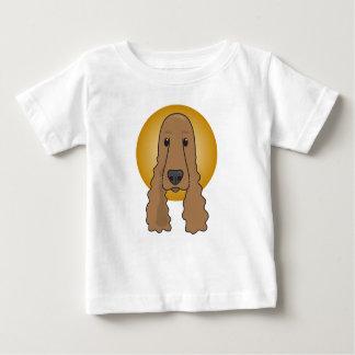 Cocker spaniel adorable, camiseta del jersey