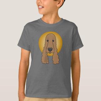 Cocker spaniel adorable, la camiseta de los niños