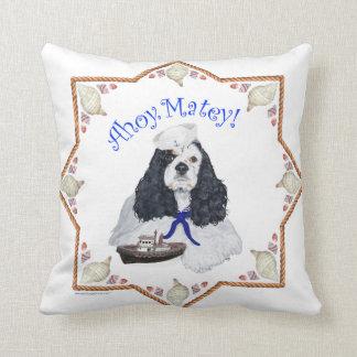 Cocker Spaniel Ahoy Matey Throw Pillow