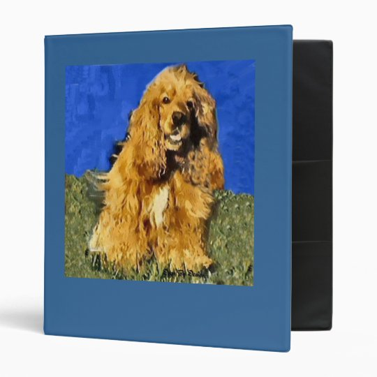 Cocker Spaniel Art 3 Ring Binder