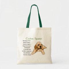 Cocker Spaniel Art Gifts bag