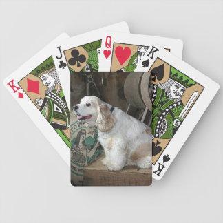 Cocker spaniel baraja cartas de poker