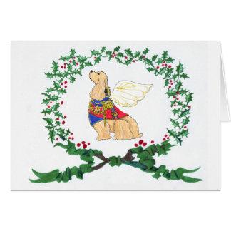 Cocker Spaniel Barking with JOY! Card