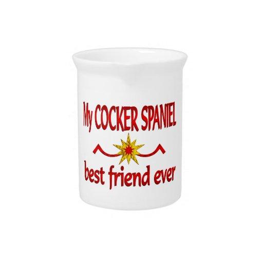 Cocker Spaniel Best Friend Beverage Pitchers