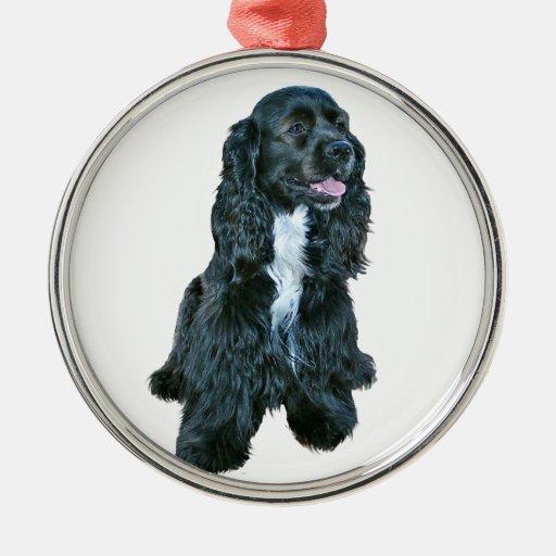 Cocker Spaniel - Black #2 Christmas Ornaments