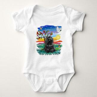 Cocker Spaniel (black) Baby Bodysuit