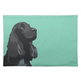 Cocker Spaniel - Black - Basic Breed Templates Cloth Placemat