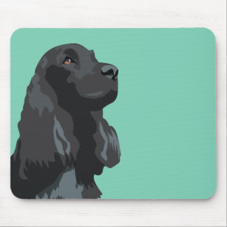 Cocker Spaniel - Black - Basic Breed Templates Mouse Pad