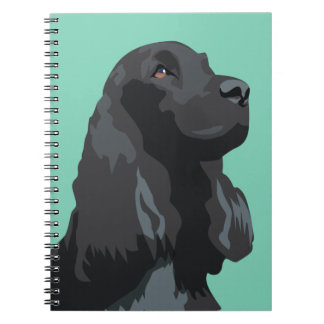 Cocker Spaniel - Black - Basic Breed Templates Notebook