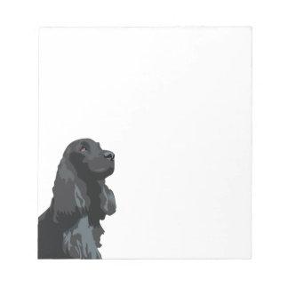 Cocker Spaniel - Black - Basic Breed Templates Memo Notepad