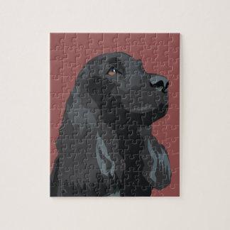 Cocker Spaniel - Black - Basic Breed Templates Puzzle