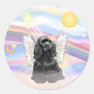 Cocker Spaniel - black Classic Round Sticker