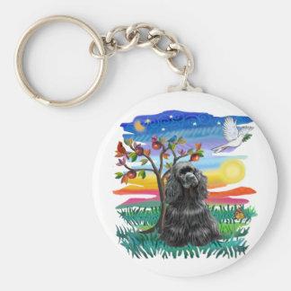 Cocker Spaniel (black) Keychain