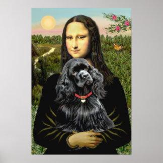 Cocker Spaniel (black) - Mona Lisa Poster