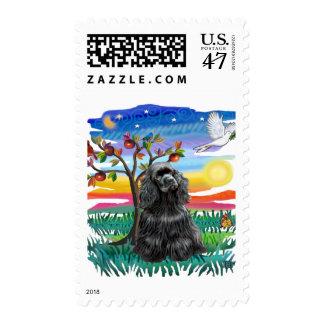 Cocker Spaniel (black) Postage