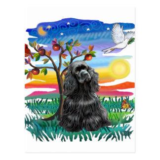 Cocker Spaniel (black) Postcard