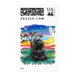 Cocker Spaniel (black) Stamp