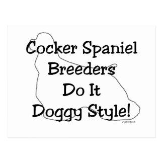 Cocker Spaniel Breeders Postcard