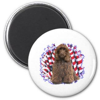 Cocker Spaniel (brown) Patriot Magnet