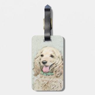 Cocker Spaniel (Buff) Bag Tag