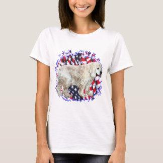 Cocker Spaniel (buff) Patriot T-Shirt