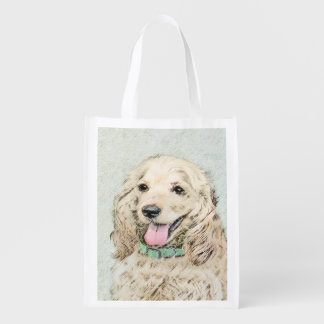 Cocker Spaniel (Buff) Reusable Grocery Bag