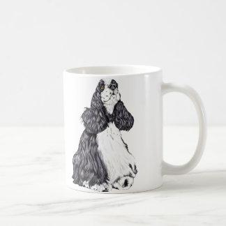 Cocker Spaniel BW Parti Classic White Coffee Mug
