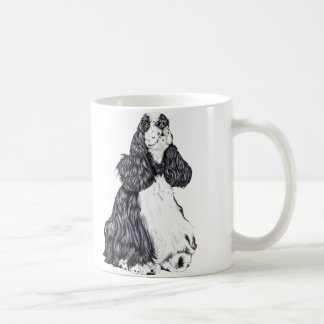 Cocker Spaniel BW Parti Coffee Mug