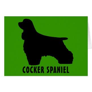 Cocker Spaniel Card