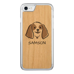 Carved Apple iPhone 7 Wood Case with Cocker Spaniel Phone Cases design