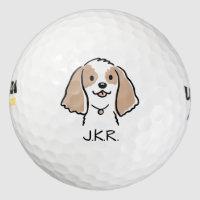 Cocker Spaniel Cartoon Dog Golf Balls