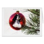 Cocker Spaniel Christmas Card Ball