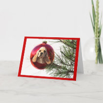 Cocker Spaniel Christmas Card Ball