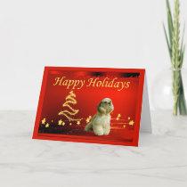 Cocker Spaniel Christmas Card Stars