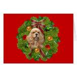 Cocker Spaniel Christmas Card Wreath