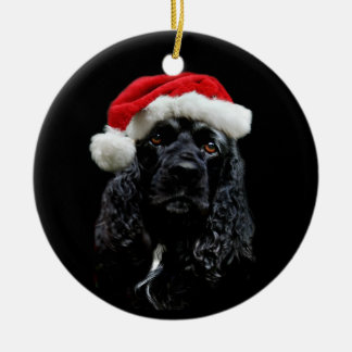 Cocker Spaniel Christmas Ceramic Ornament