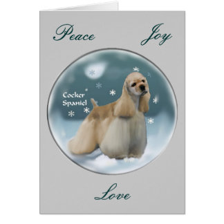 Cocker Spaniel Christmas Gifts Card